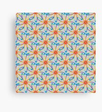 Floral abstract color pattern Canvas Print