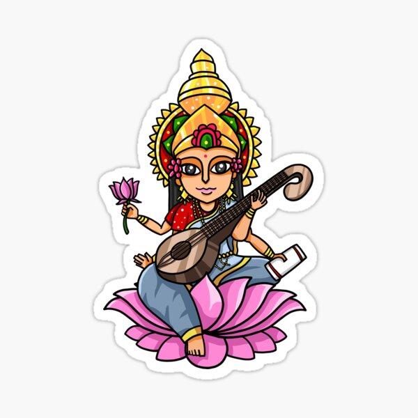 Maa Sarswati Sticker Photo  IMAGES, GIF, ANIMATED GIF, WALLPAPER, STICKER FOR WHATSAPP & FACEBOOK