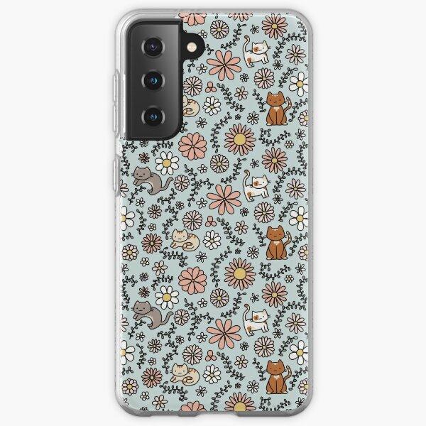 Fleur Miaou Coque souple Samsung Galaxy