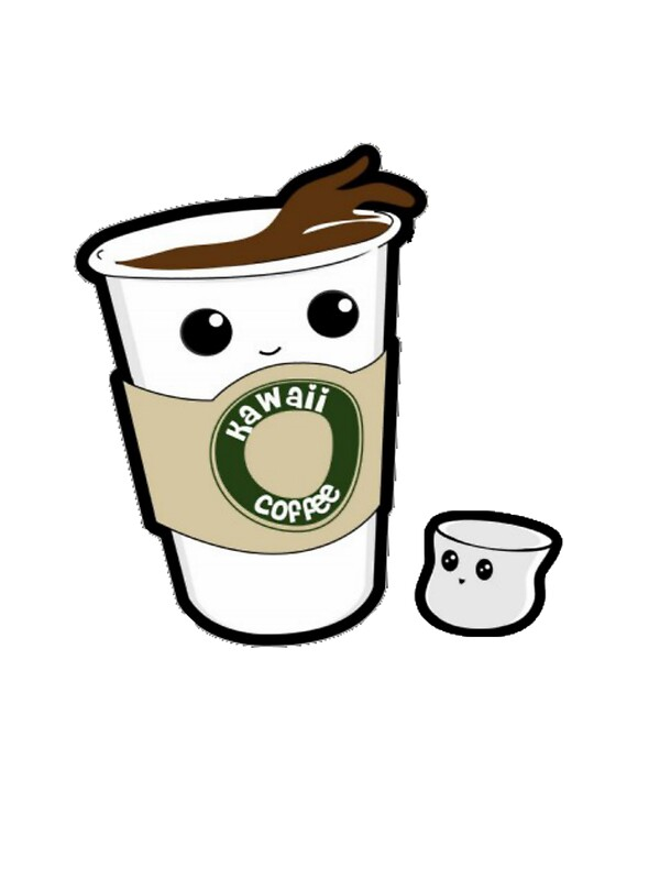 kawaii coffee stickers by jodiecameron redbubble