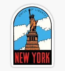 Pegatina Estatua de la libertad Nueva York Vintage Travel Decal