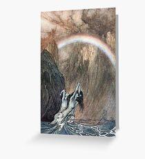 Tarjeta de felicitación Ilustración vintage de sirenas