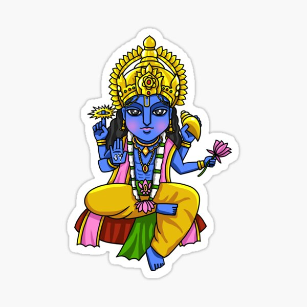 Vishnu Ji Hindu God Sticker Photo