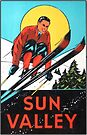 Sun Valley Idaho Skiing Vintage Travel Decal by hilda74
