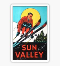 Sun Valley Idaho Skiing Vintage Travel Decal Sticker