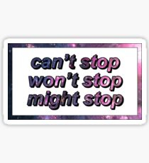 Game Grumps - Can't Stop Won't Stop Might Stop Sticker