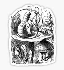 Alice in Wonderland Illustration Caterpillar Sticker