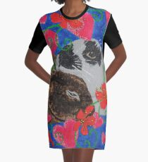 Bunny Anytime Valentines - Design Fifteen Graphic T-Shirt Dress