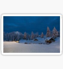 Winter fairy tale at Grouse  Sticker