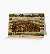 Harrisburg Panorama 1885 Greeting Card