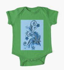 Blue ornament, floral design Kids Clothes