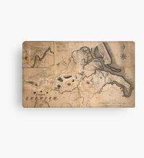Map of Ipswich 1832 Metal Print