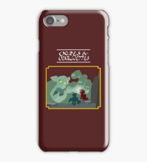 Ogres and Oubliettes - white text iPhone Case/Skin