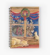 Christmas Visitors Spiral Notebook