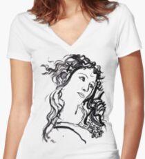 Primavera  Women's Fitted V-Neck T-Shirt