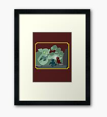 Ogres and Oubliettes - NO text Framed Print