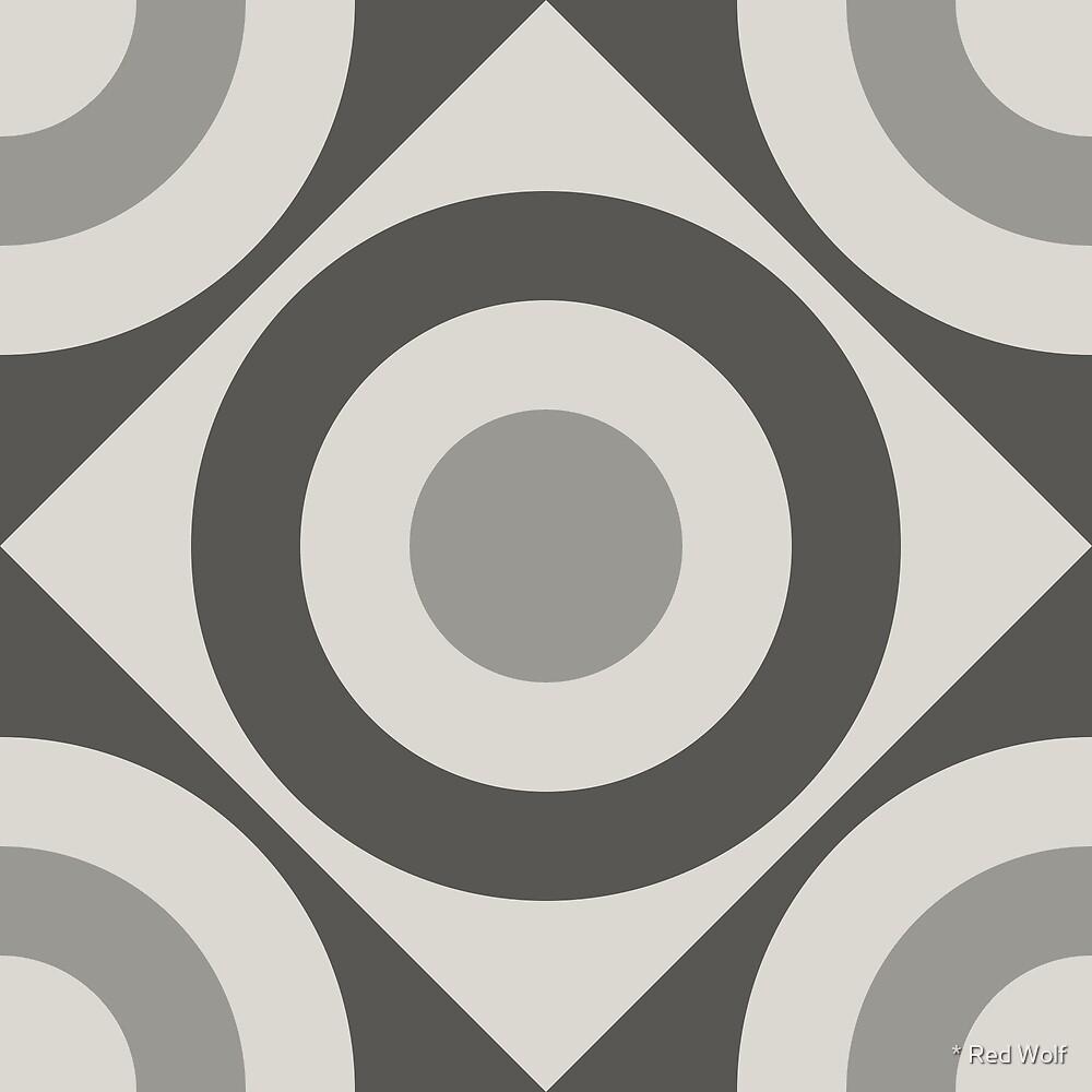 Geometric Pattern: Rondel Diamond: Slate by * Red Wolf