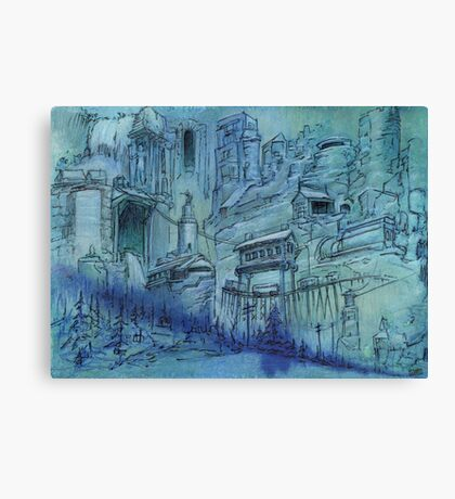 The Broken Gate  Canvas Print