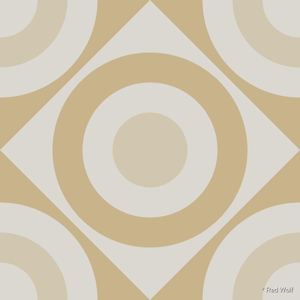 Geometric Pattern: Rondel Diamond: Sandstone by * Red Wolf