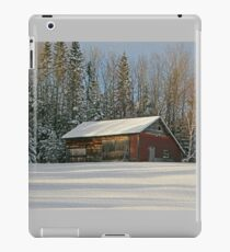 Old Barn Winter Snow Scene iPad Case/Skin