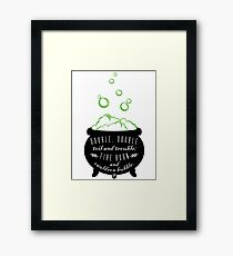 Double, Double Toil & Trouble Framed Print