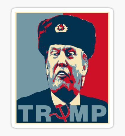 Trump Russia Poster Sticker