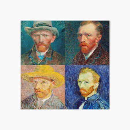Van Gogh Self-Portrait Collage Art Board Print
