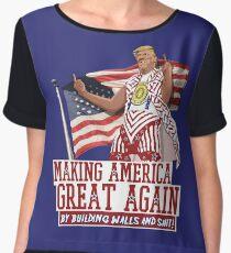 Blusa Haciendo que Estados Unidos sea grandioso nuevamente Donald Trump (IDIOCRACY)