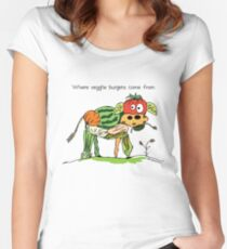 Veggie Burgers Women's Fitted Scoop T-Shirt