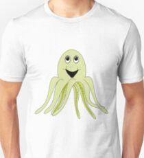 Cartoon style octopus art Unisex T-Shirt