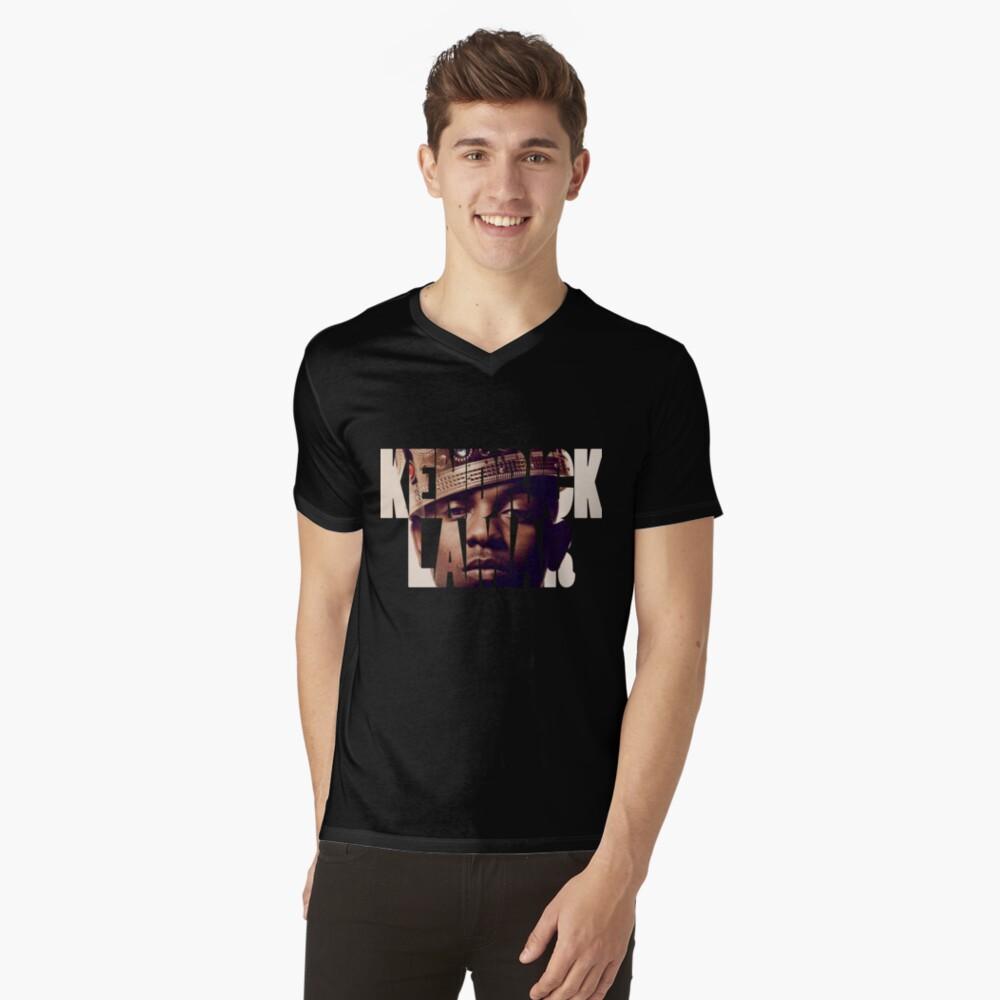 "Kendrick Lamar ""King"" Design Mens V-Neck T-Shirt Front"