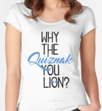 Why The Quiznak Women's Fitted Scoop T-Shirt