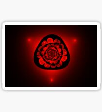 unusual red flower on black background Sticker