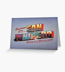 san junipero Greeting Card