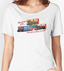san junipero Women's Relaxed Fit T-Shirt