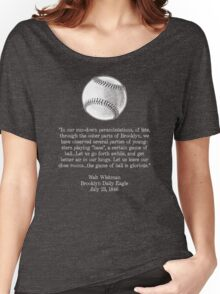 Walt Whitman - Baseball Quote (White) Women's Relaxed Fit T-Shirt