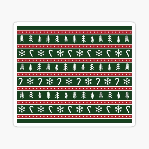 Christmas patterns Green and Red Sticker
