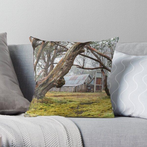 Wallaces Hut Throw Pillow