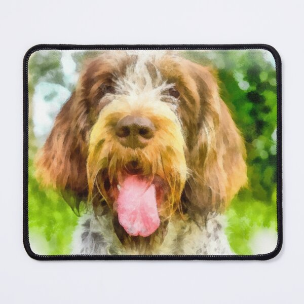 Smiling Spinone portrait Mouse Pad