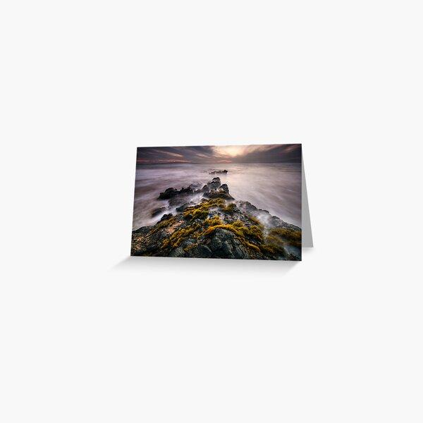 Cloudy Sunset, Maui Greeting Card