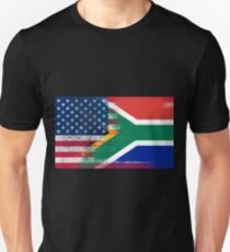 South African American Half South Africa Half Flag Unisex T-Shirt