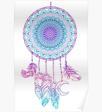 Mandala in dreamcatcher Poster