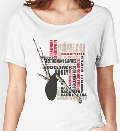 Sackpfeifen Textwolke Women's Relaxed Fit T-Shirt