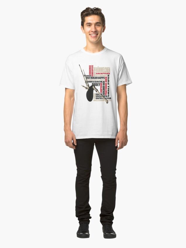 Alternate view of Sackpfeifen Textwolke Classic T-Shirt