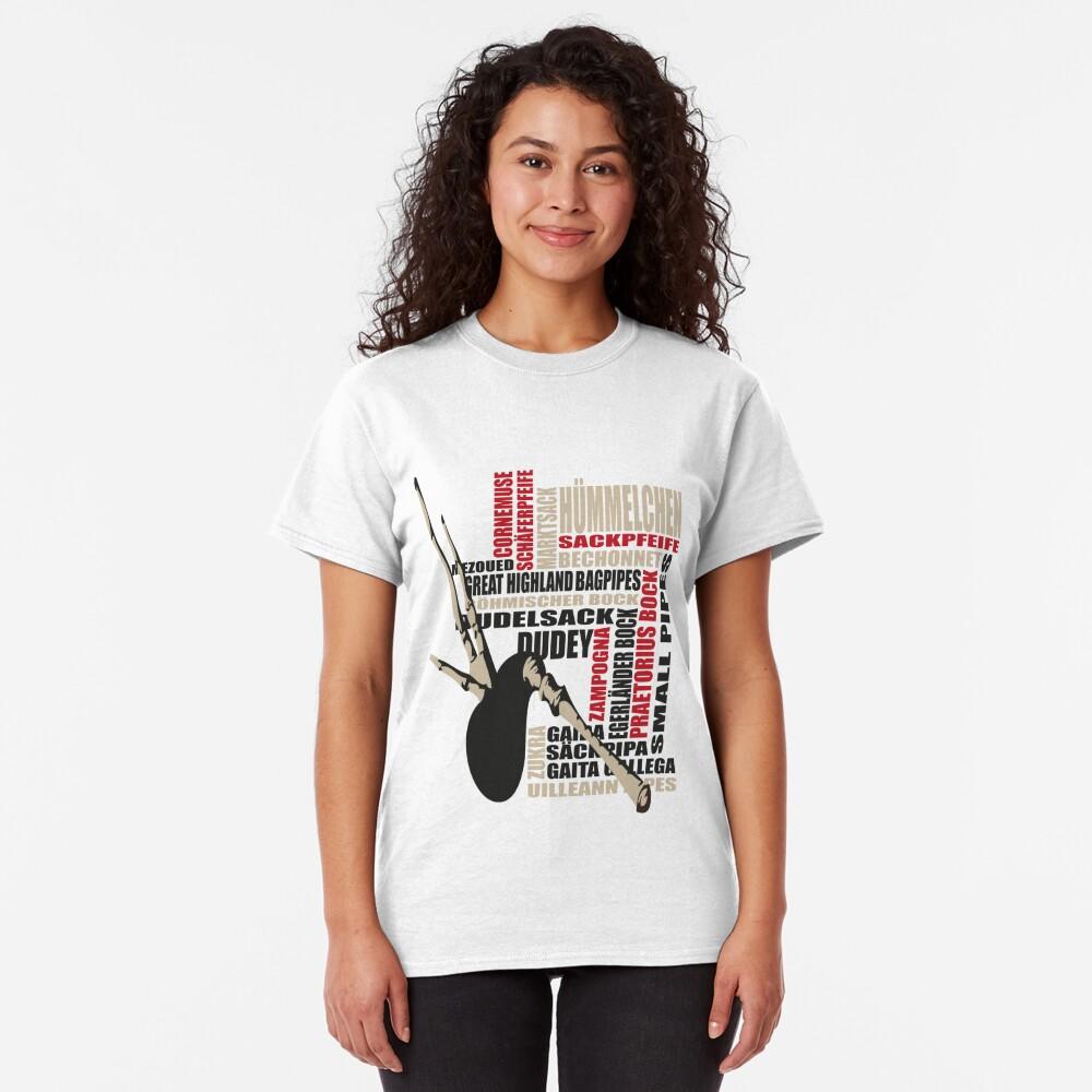 Sackpfeifen Textwolke Classic T-Shirt