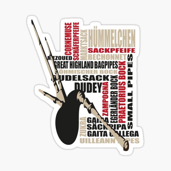 Sackpfeifen Textwolke Sticker