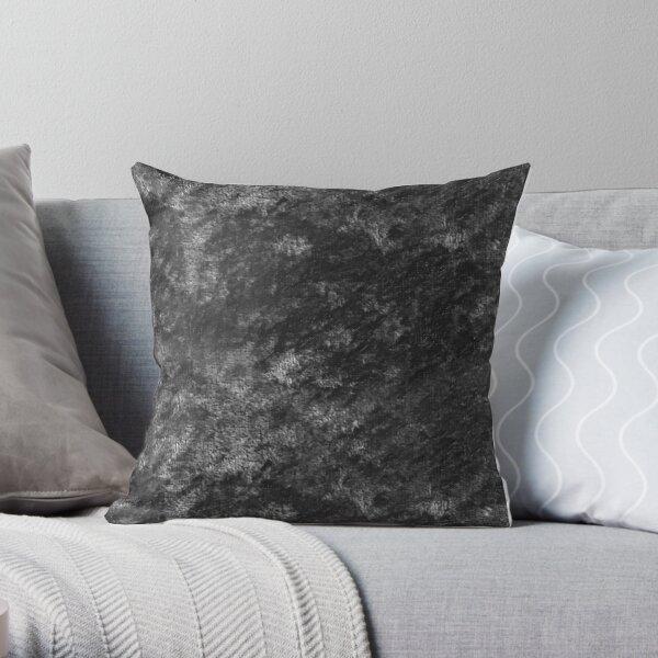 Charcoal skies velvet Throw Pillow