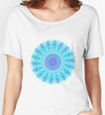 Peacock feathers mandala Women's Relaxed Fit T-Shirt
