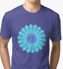 Peacock feathers mandala Tri-blend T-Shirt