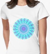 Peacock feathers mandala Women's Fitted T-Shirt